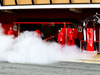 TEST F1 BARCELLONA 8 MARZO, Sebastian Vettel (GER) Ferrari SF71H with smoke coming from a pipe at the side of the pit garage. 08.03.2018.