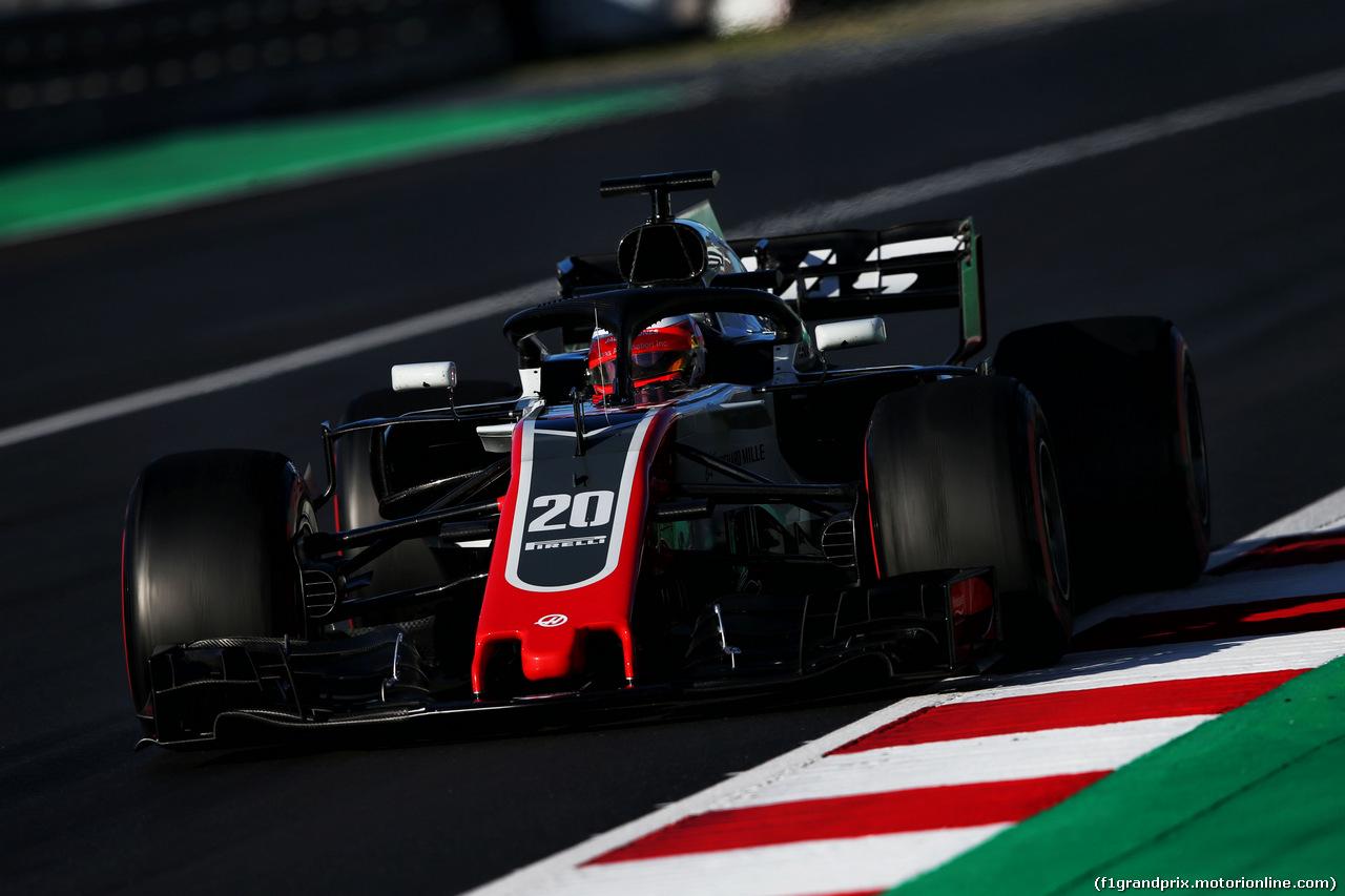 TEST F1 BARCELLONA 8 MARZO, Kevin Magnussen (DEN) Haas VF-18. 06.03.2018.