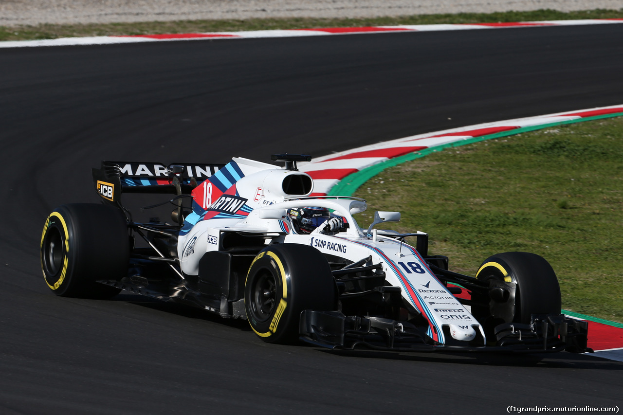 TEST F1 BARCELLONA 8 MARZO, Lance Stroll (CDN) Williams FW41. 06.03.2018.