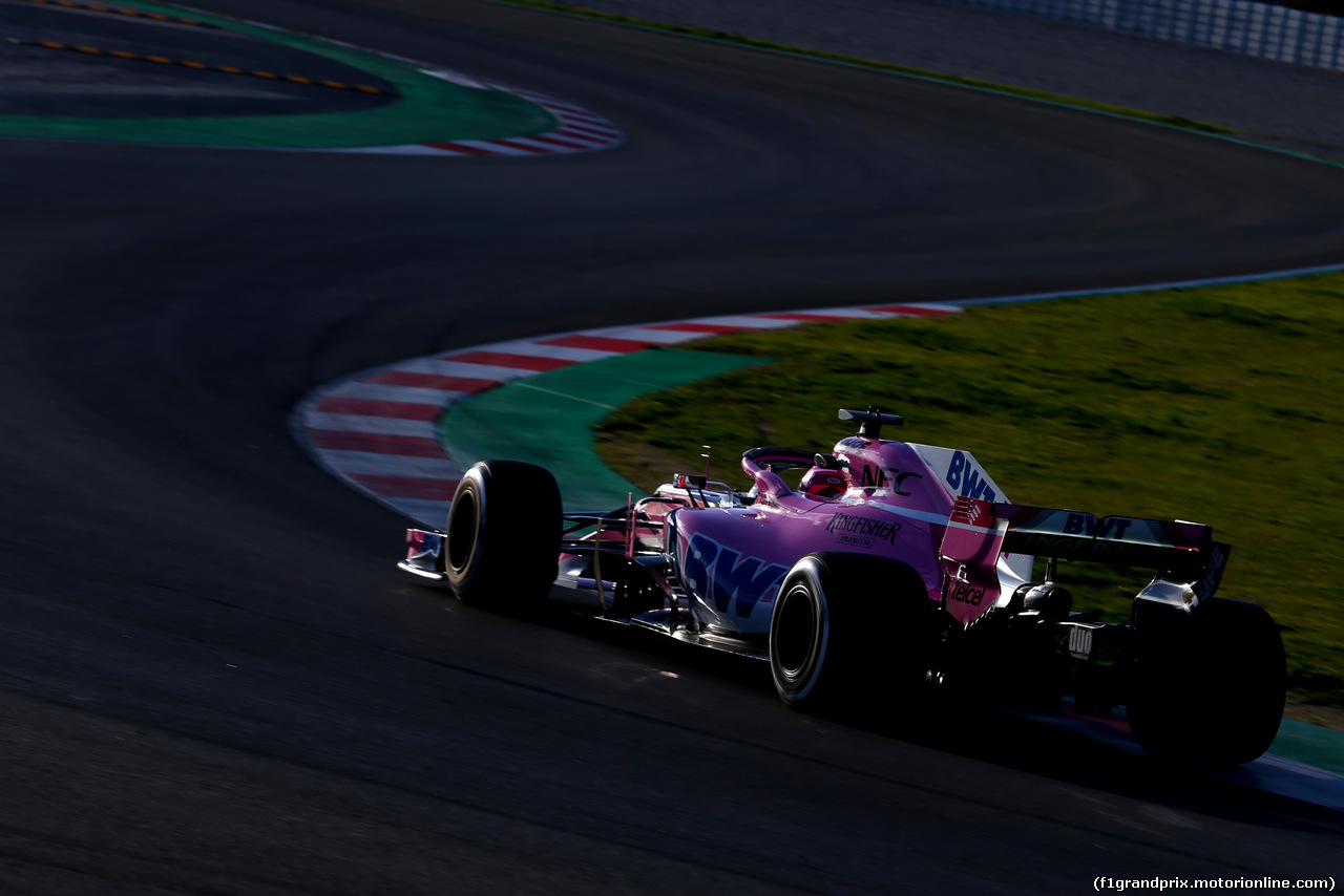 TEST F1 BARCELLONA 8 MARZO, Esteban Ocon (FRA) Force India F1  07.03.2018.