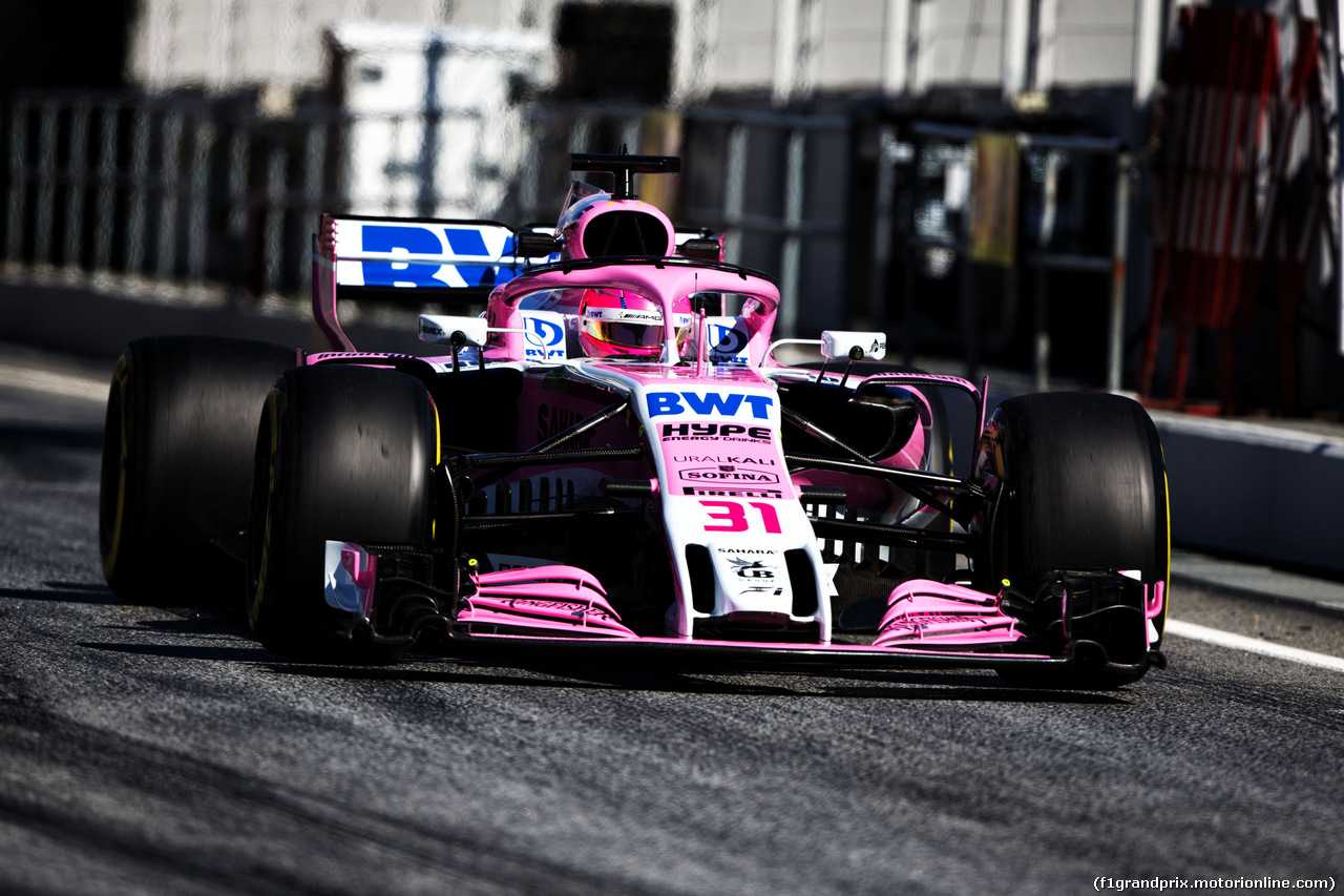 TEST F1 BARCELLONA 8 MARZO, Esteban Ocon (FRA) Sahara Force India F1 VJM11. 07.03.2018.