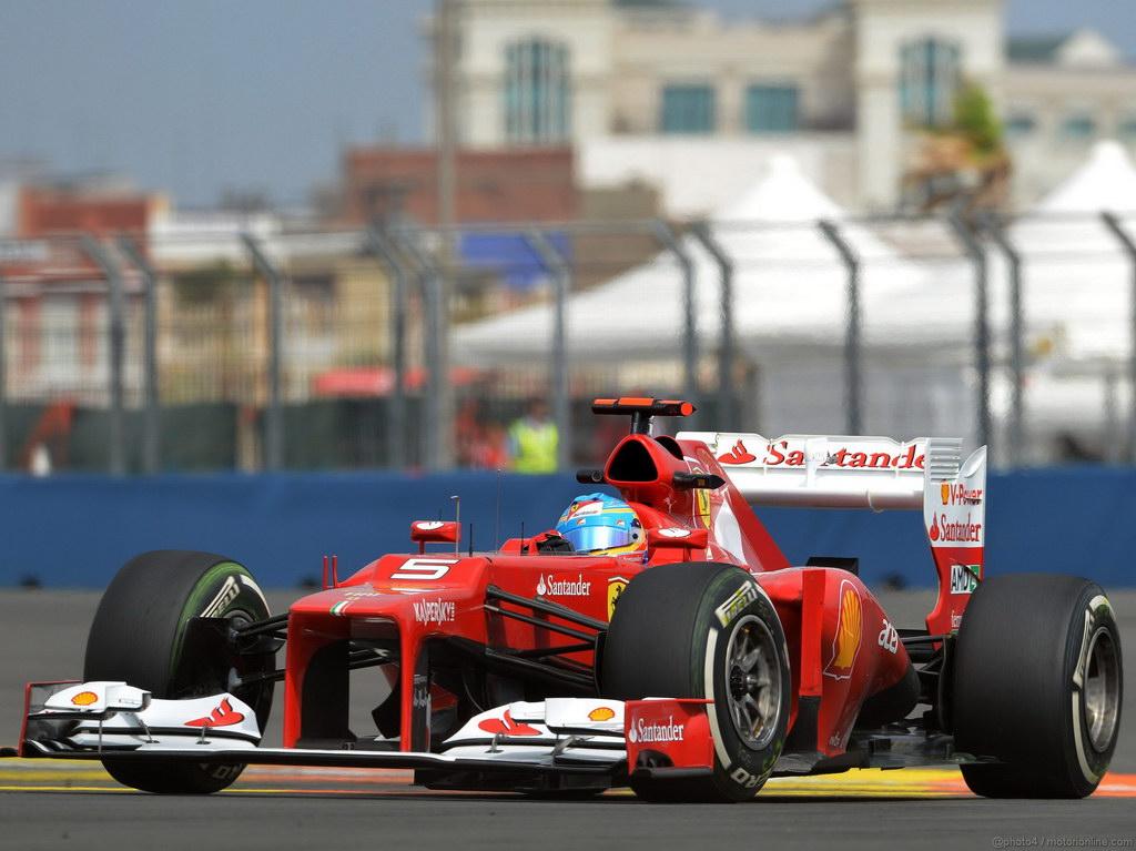Fernando Alonso Ferrari F1 ganador del GP de Europa Valencia Winner GP Europe F1