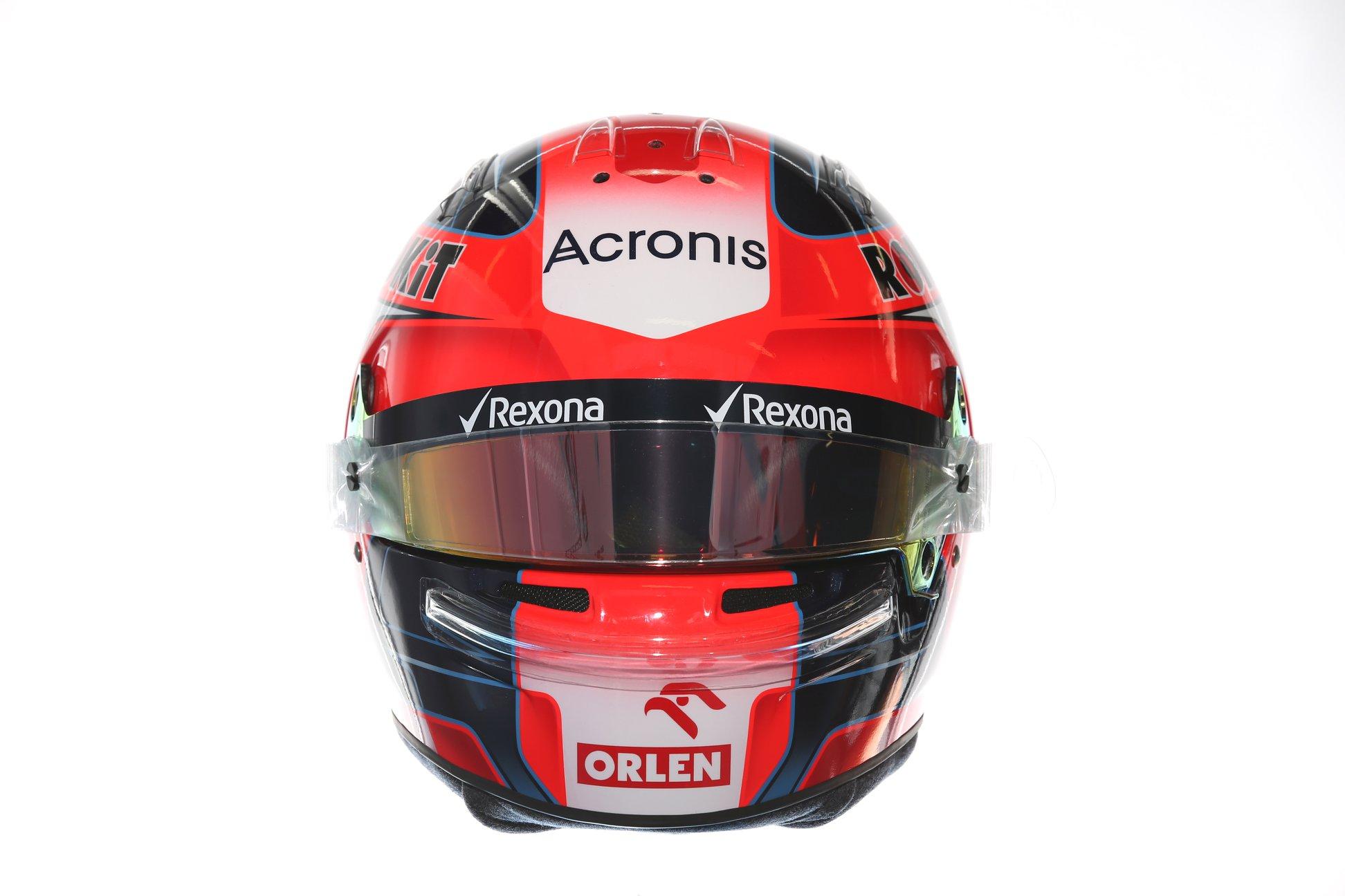 Casco Robert Kubica 2019 - Rokit Williams Racing