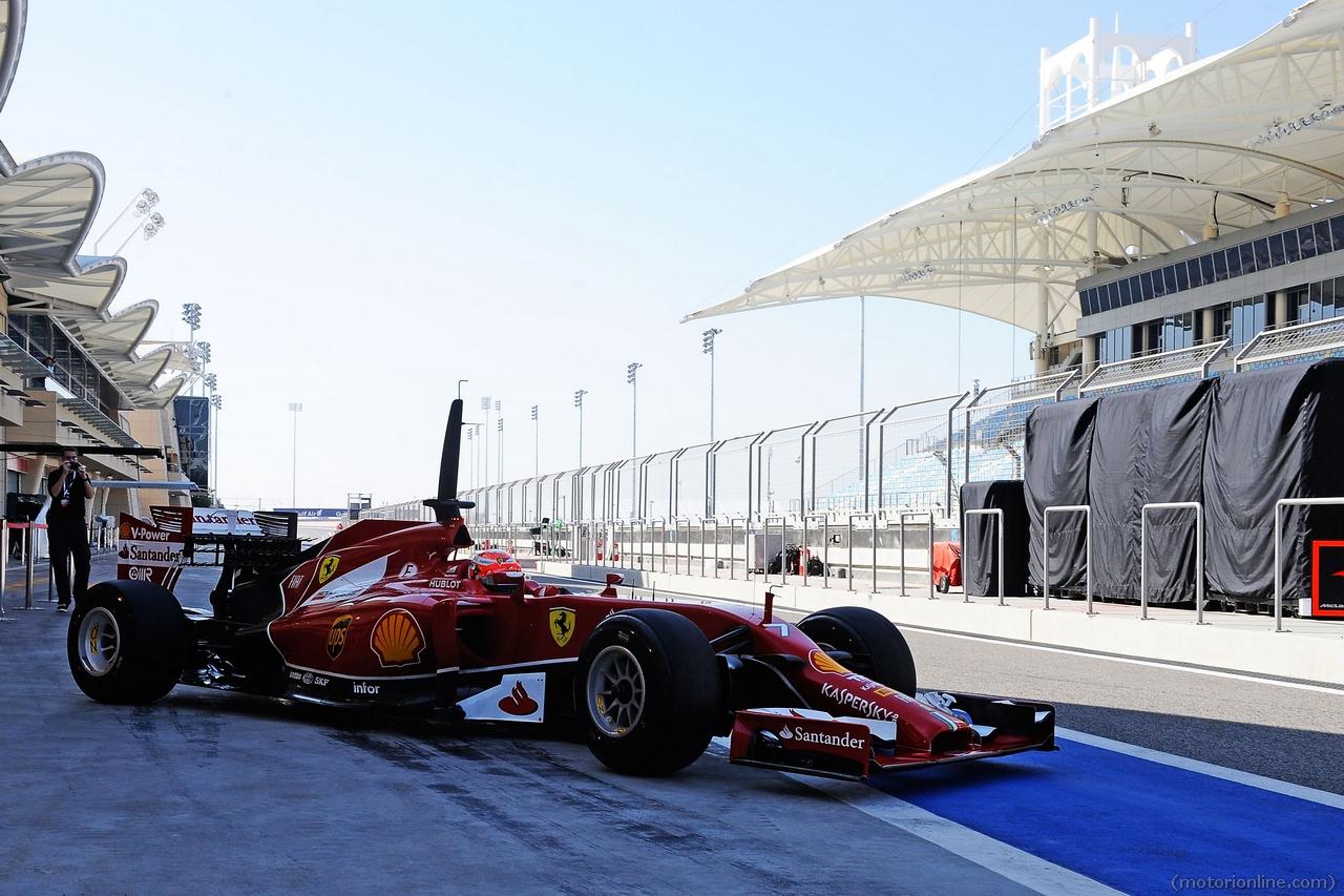 Ferrari F1 Test Bahrain Febbraio 2014 Galleria 2