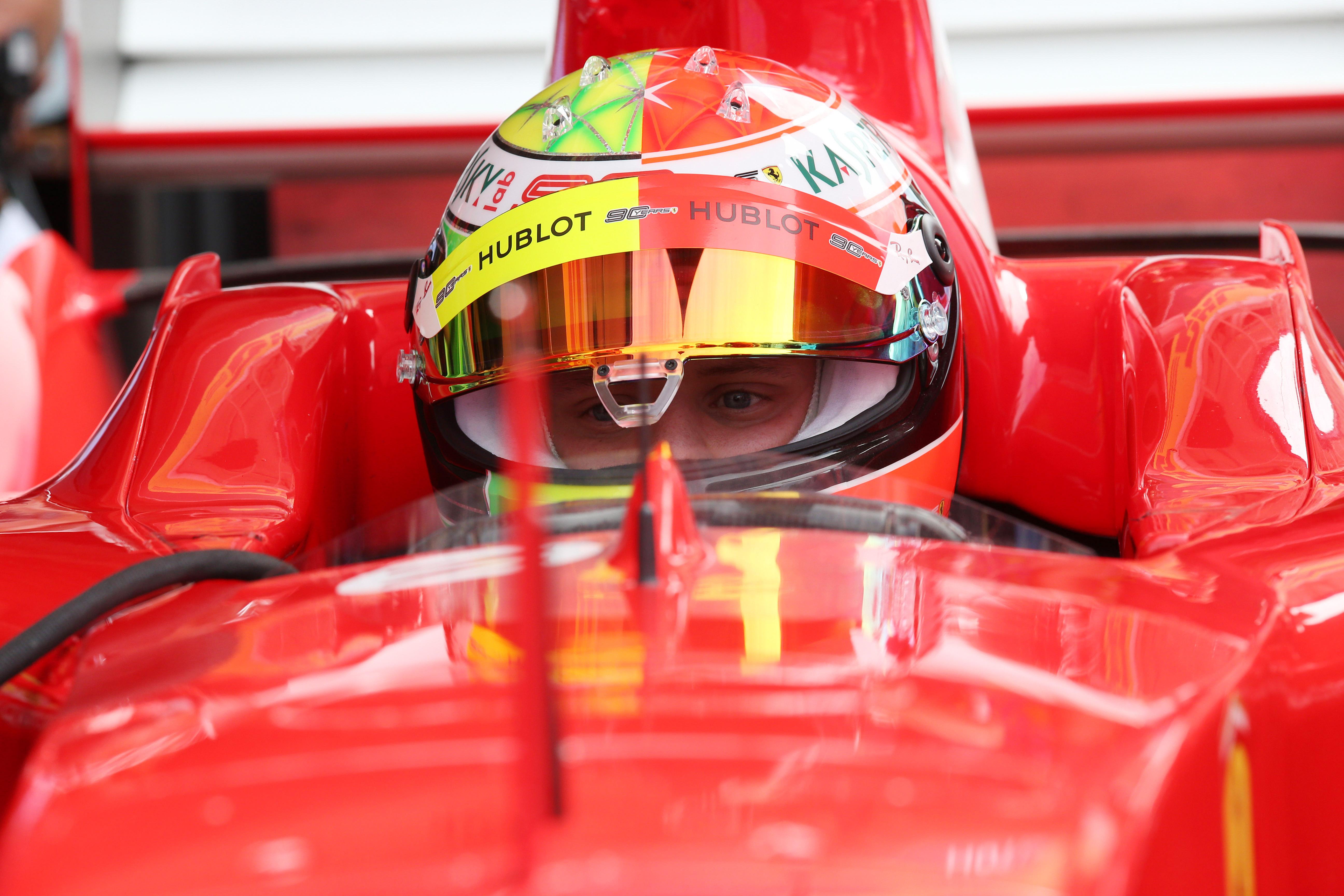 27.07.2019 - Mick Schumacher (GER) Ferrari Test Driver in the Ferrari F2003-GA driven by his father Michael Schumacher