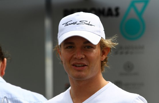 Nico rosberg è pronto per il weekend del gran premio d'europa, a