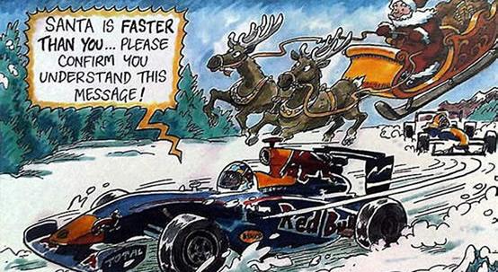 Red Bull: cartolina d'auguri con satira su Ferrari thumbnail