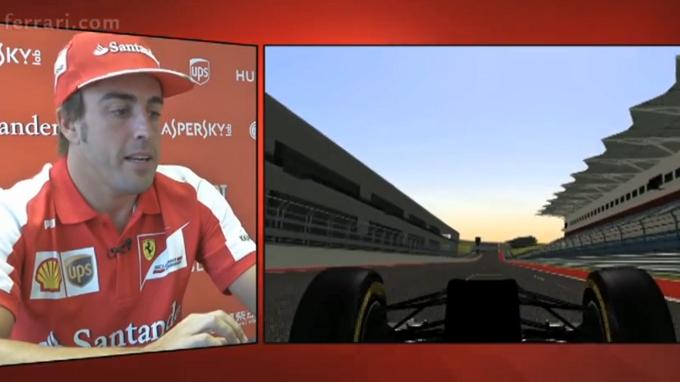 Circuito Fernando Alonso : Gp usa giro virtuale del circuito di austin con fernando