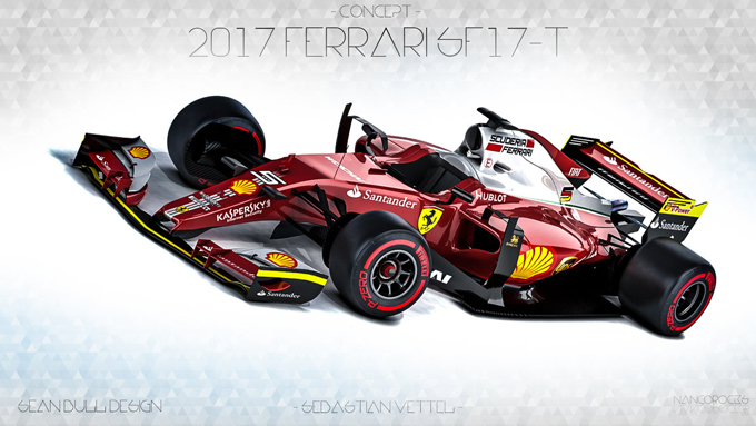 f1 ferrari f1 2017 indiscrezioni e rendering. Black Bedroom Furniture Sets. Home Design Ideas