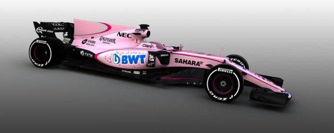 F1, Force India si tinge di rosa: svelata la livrea 2017