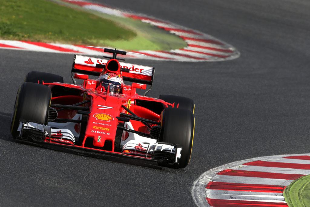 Test Montmelò: Raikkonen il più veloce, problemi per Hamilton