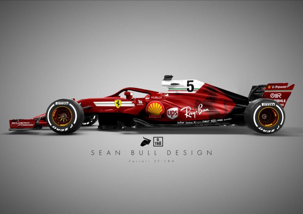 Formula 1 | Ferrari, ritorno al passato per la livrea 2018? Ecco il render di Sean Bull [FOTO]
