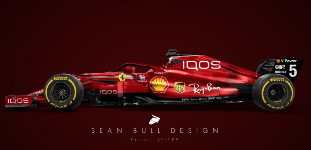 Vzorec 1 Vráťte sa do minulosti pre Ferrari: farba úplne červená a zbohom na bielu