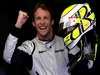 JENSON BUTTON 2009 WORLD CHAMPION, Jenson Button of Brawn GP celebrates taking pole position.