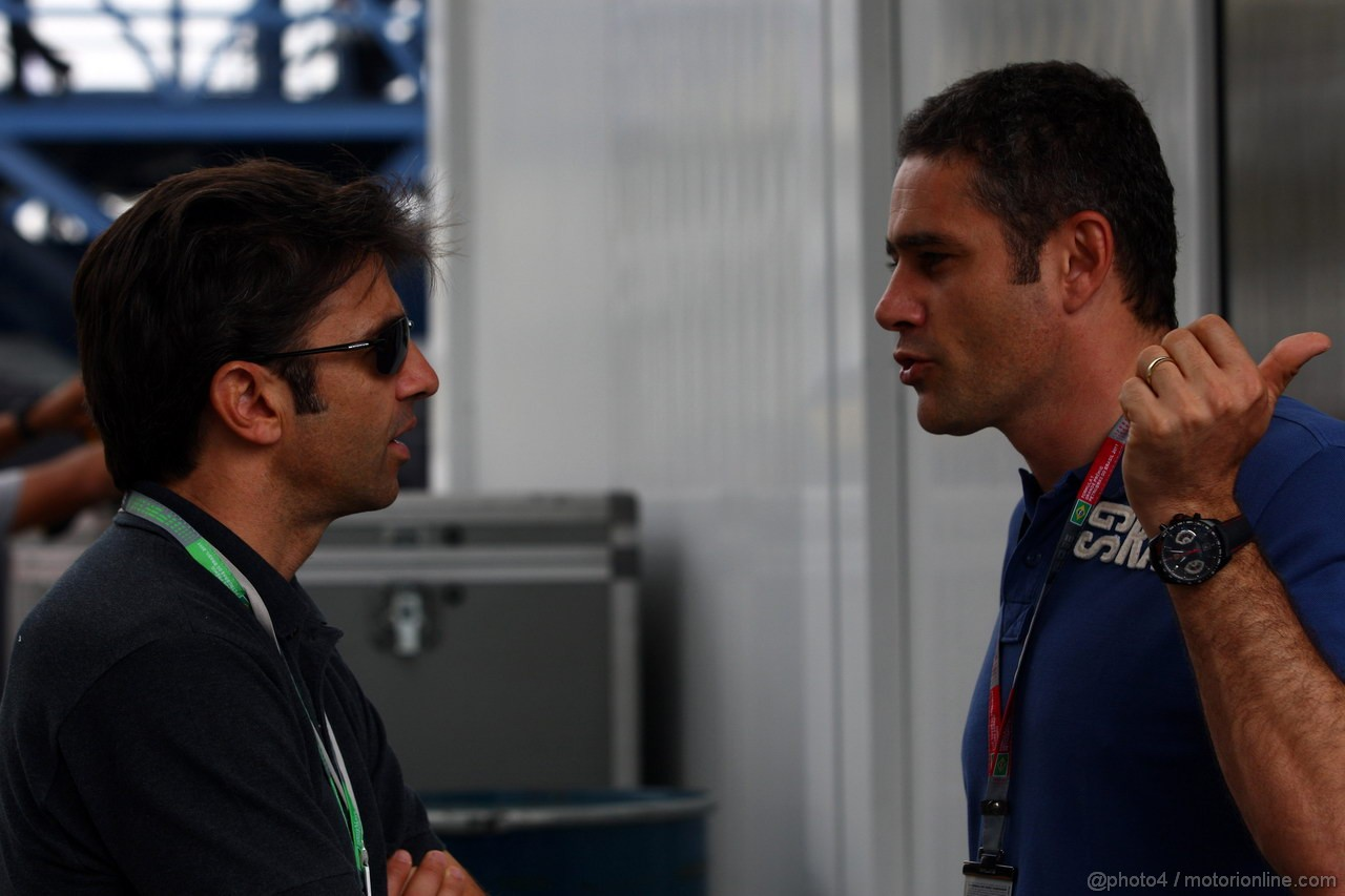 GP BRASILE, 27.11.2011- Christian Fittipaldi (BRA e Karl Wendlinger (AU)