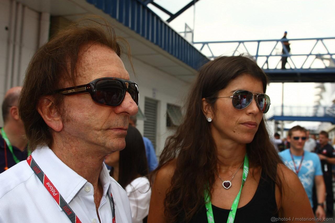 GP BRASILE, 27.11.2011- Emerson Fittipaldi (BRA), Ex F1 Champion e sua moglie Rossana Fanucchi