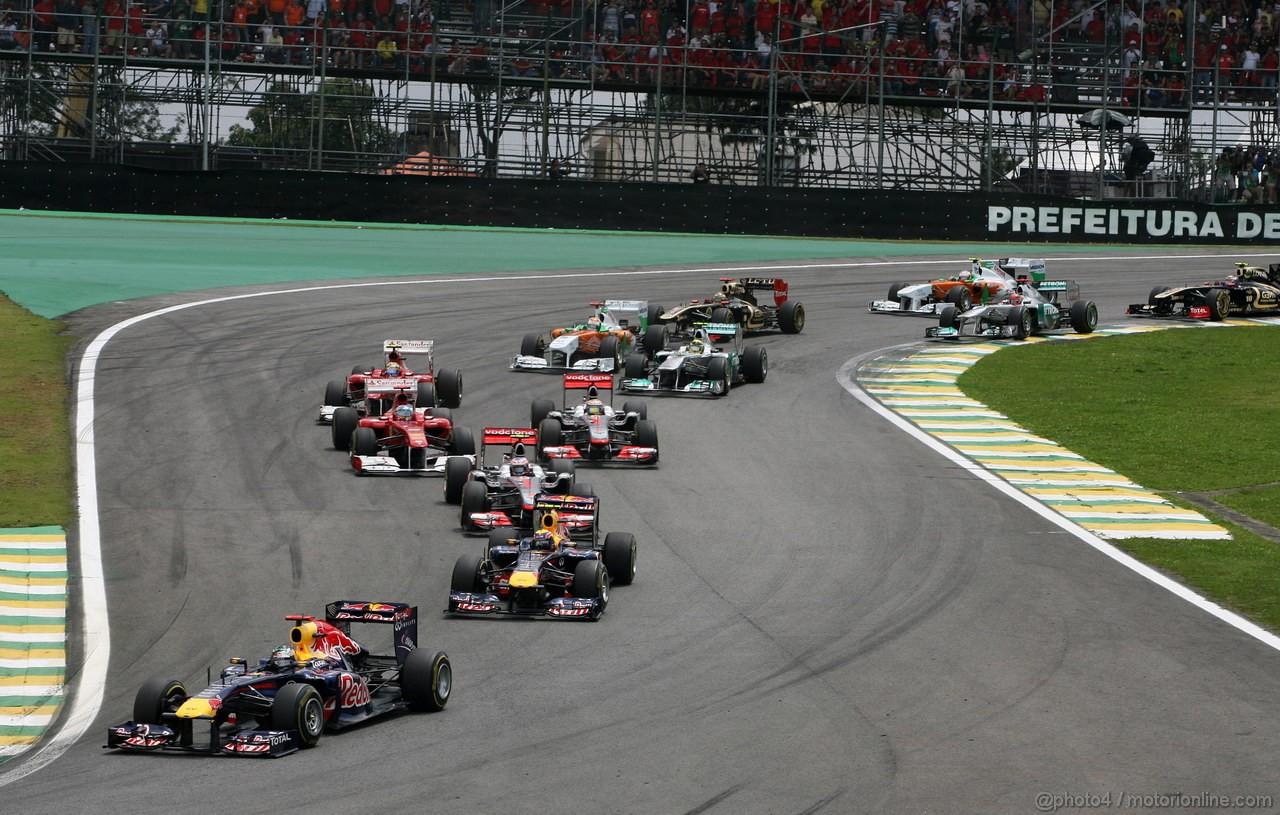 GP BRASILE, 27.11.2011- Gara, Start of the race