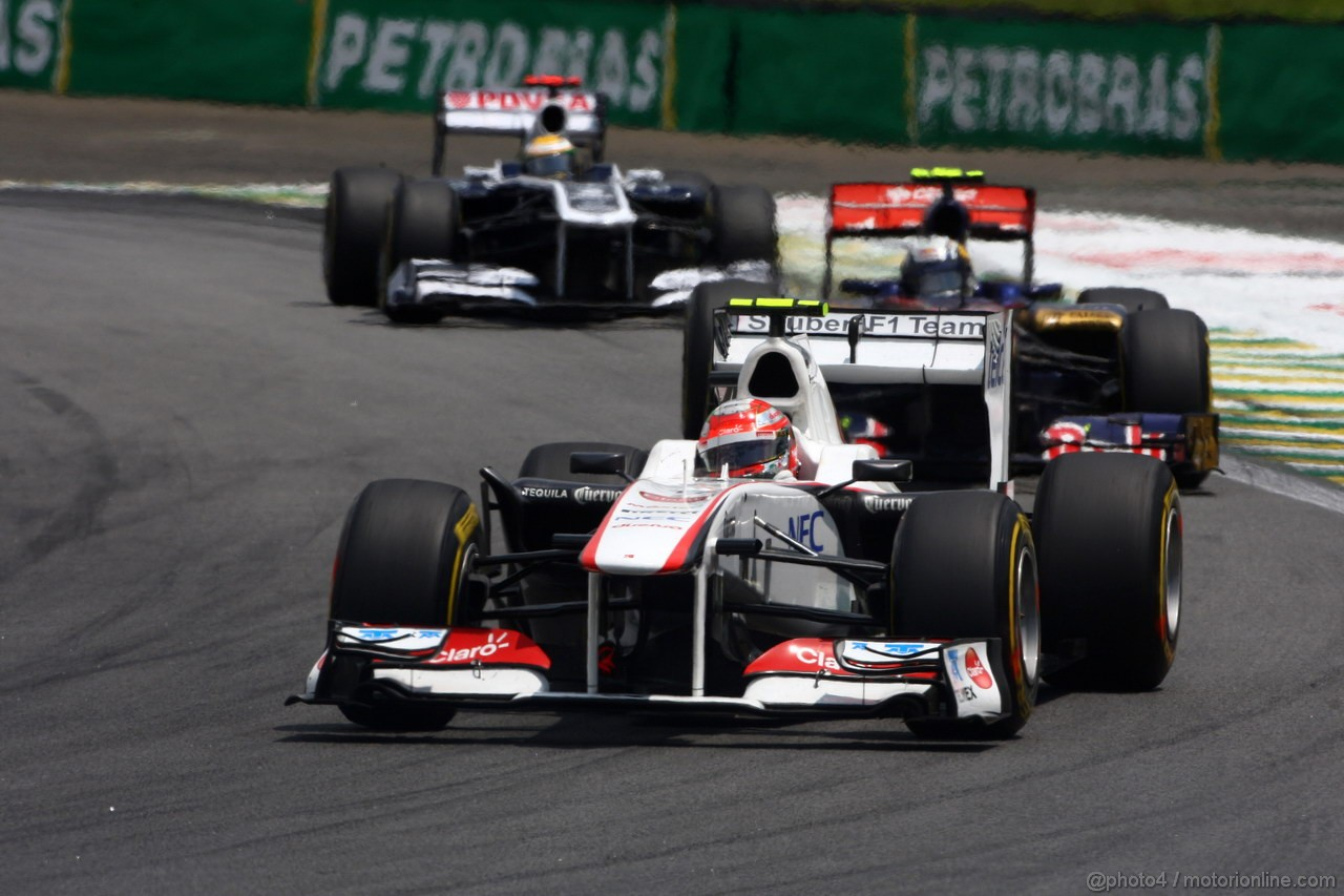 GP BRASILE, 27.11.2011- Gara, Sergio P�rez (MEX), Sauber F1 Team C30