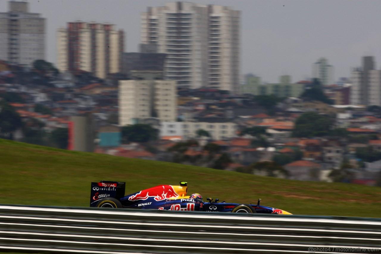 GP BRASILE, 27.11.2011- Gara, Mark Webber (AUS), Red Bull Racing, RB7