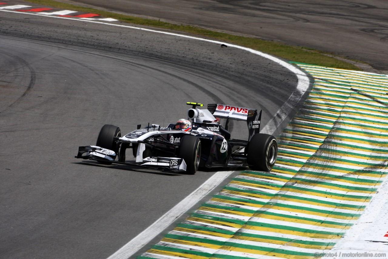 GP BRASILE, 27.11.2011- Gara, Rubens Barrichello (BRA), Williams FW33