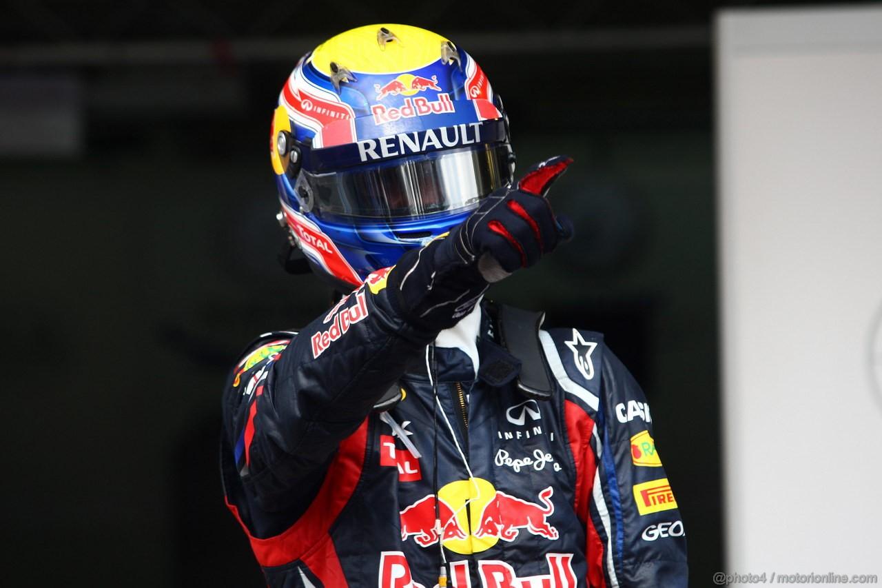 GP BRASILE, 27.11.2011- Gara, Mark Webber (AUS), Red Bull Racing, RB7 vincitore