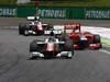 GP BRASILE, 27.11.2011- Gara, Vitantonio Liuzzi (ITA), HRT Formula One Team e Timo Glock (GER), Marussia Virgin Racing VR-02