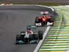 GP BRASILE, 27.11.2011- Gara, Michael Schumacher (GER), Mercedes GP Petronas F1 Team, MGP W02 e Fernando Alonso (ESP), Ferrari, F-150 Italia