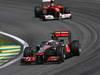 GP BRASILE, 27.11.2011- Gara, Jenson Button (GBR), McLaren  Mercedes, MP4-26 e Felipe Massa (BRA), Ferrari, F-150 Italia
