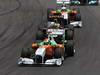 GP BRASILE, 27.11.2011- Gara, Adrian Sutil (GER), Force India F1 Team, VJM04, Bruno Senna (BRA), Lotus Renault GP R31 e Paul di Resta (GBR) Force India VJM04