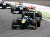 GP BRASILE, 27.11.2011- Gara, Heikki Kovalainen (FIN), Team Lotus, TL11 e Jaime Alguersuari (SPA), Scuderia Toro Rosso, STR6
