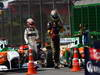 GP BRASILE, 27.11.2011- Gara, Sergio P�rez (MEX), Sauber F1 Team C30 e Bruno Senna (BRA), Lotus Renault GP R31