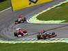 GP BRASILE, 27.11.2011- Gara, Jenson Button (GBR), McLaren  Mercedes, MP4-26 davanti a Fernando Alonso (ESP), Ferrari, F-150 Italia e Lewis Hamilton (GBR), McLaren  Mercedes, MP4-26