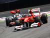 GP BRASILE, 27.11.2011- Gara, Lewis Hamilton (GBR), McLaren  Mercedes, MP4-26 e Felipe Massa (BRA), Ferrari, F-150 Italia