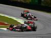 GP BRASILE, 27.11.2011- Gara, Jenson Button (GBR), McLaren  Mercedes, MP4-26 e Lewis Hamilton (GBR), McLaren  Mercedes, MP4-26