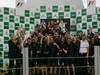 GP BRASILE, 27.11.2011- Gara, Festeggiamenti, Mark Webber (AUS), Red Bull Racing, RB7 vincitore e Sebastian Vettel (GER), Red Bull Racing, RB7 secondo