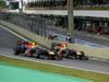 GP BRASILE, 27.11.2011- Gara, Mark Webber (AUS), Red Bull Racing, RB7 e Sebastian Vettel (GER), Red Bull Racing, RB7