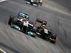 GP BRASILE, 27.11.2011- Gara, Michael Schumacher (GER), Mercedes GP Petronas F1 Team, MGP W02 e Bruno Senna (BRA), Lotus Renault GP R31