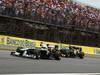GP BRASILE, 27.11.2011- Gara, Rubens Barrichello (BRA), Williams FW33 e Heikki Kovalainen (FIN), Team Lotus, TL11