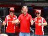 GP BRASILE, 24.11.2011- Fernando Alonso (ESP), Ferrari, F-150 Italia e Felipe Massa (BRA), Ferrari, F-150 Italia  Italia with the new sponsor Kaspersky