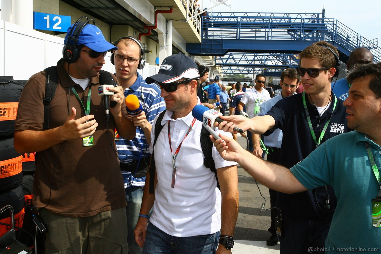 GP BRASILE, 26.11.2011- Rubens Barrichello (BRA), Williams FW33