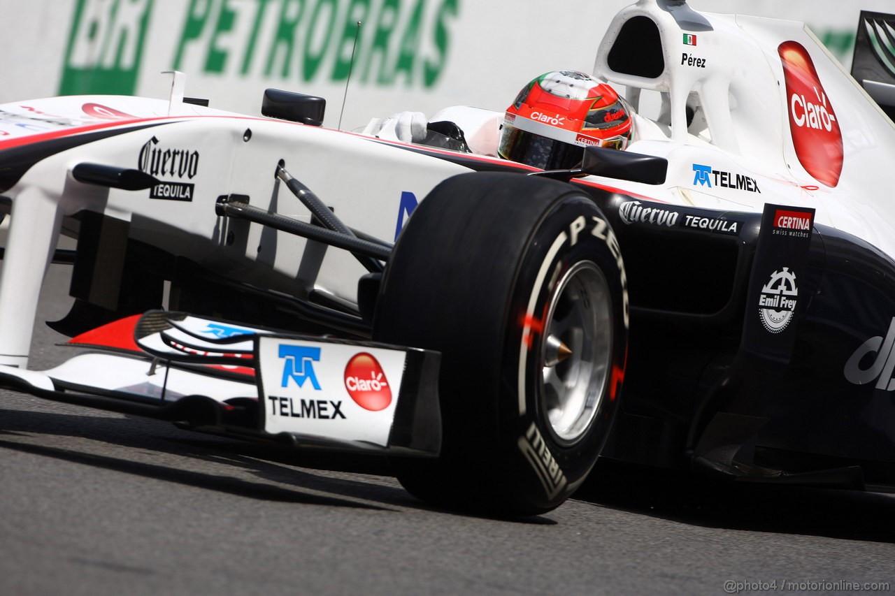 GP BRASILE, 26.11.2011- Prove Libere 3, Sabato, Sergio P�rez (MEX), Sauber F1 Team C30