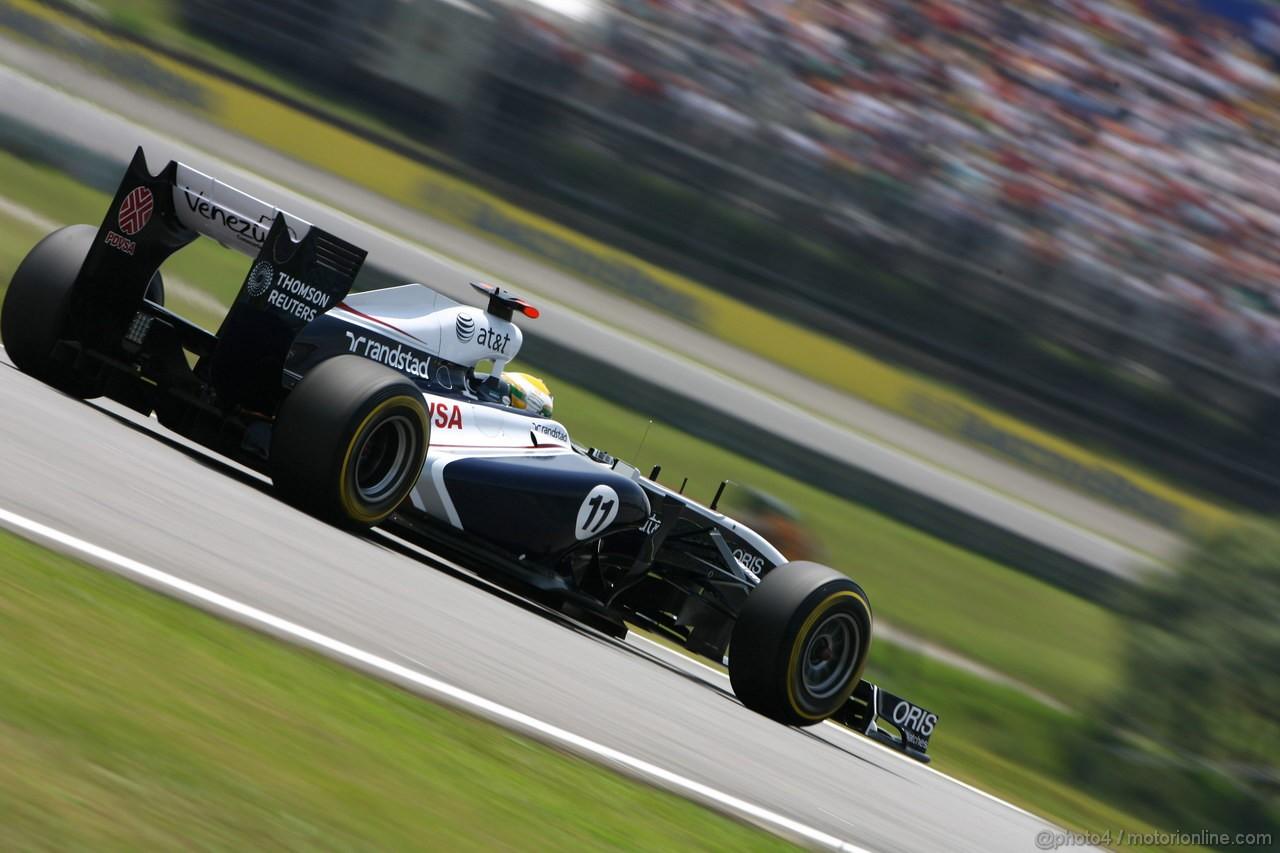 GP BRASILE, 26.11.2011- Prove Libere 3, Sabato, Rubens Barrichello (BRA), Williams FW33