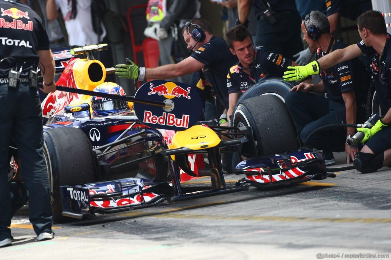 GP BRASILE, 26.11.2011- Prove Libere 3, Sabato, Mark Webber (AUS), Red Bull Racing, RB7