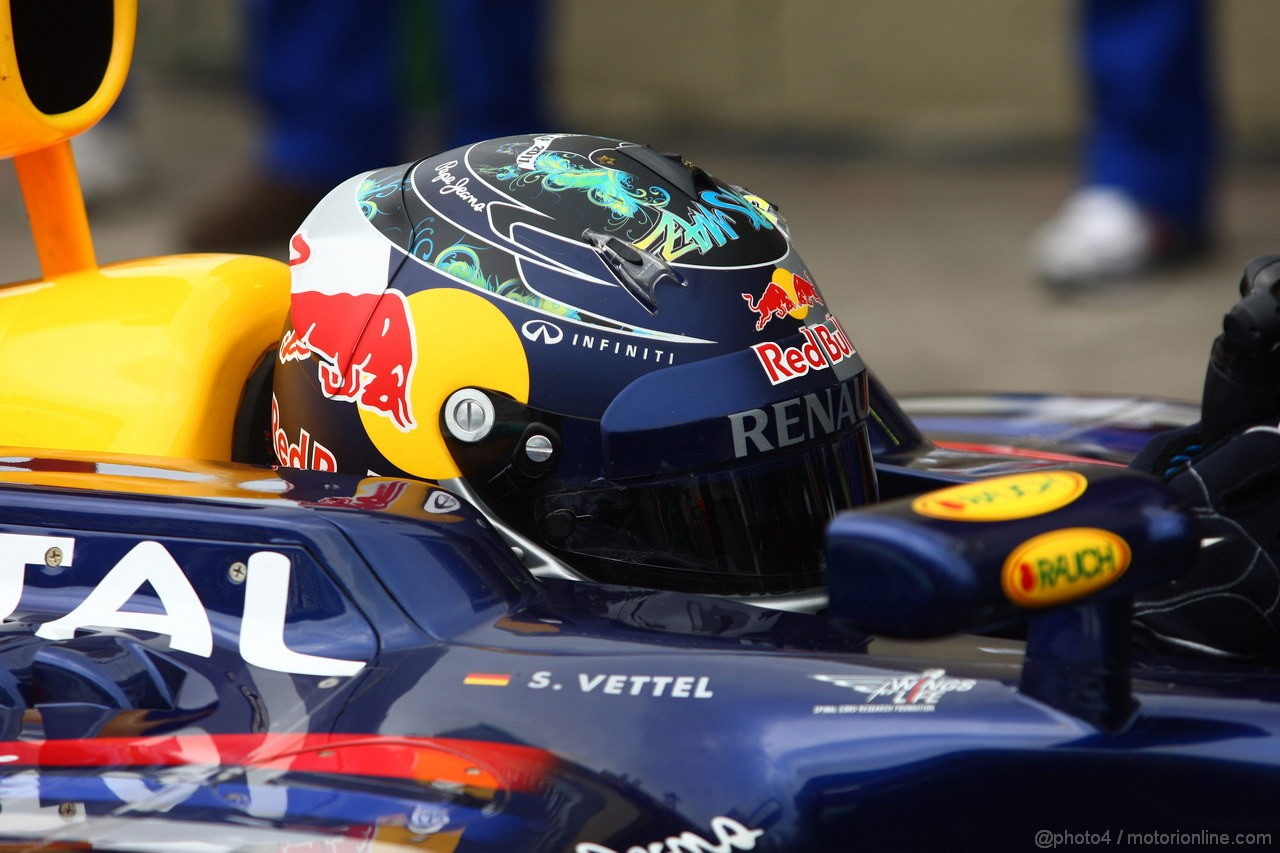 GP BRASILE, 26.11.2011- Qualifiche, Sebastian Vettel (GER), Red Bull Racing, RB7 pole position