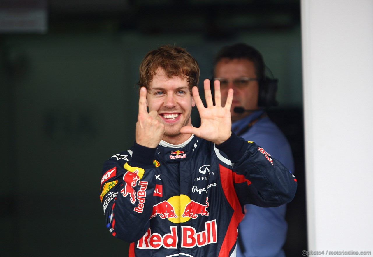 GP BRASILE, 26.11.2011- Qualifiche, Sebastian Vettel (GER), Red Bull Racing, RB7 15� pole position