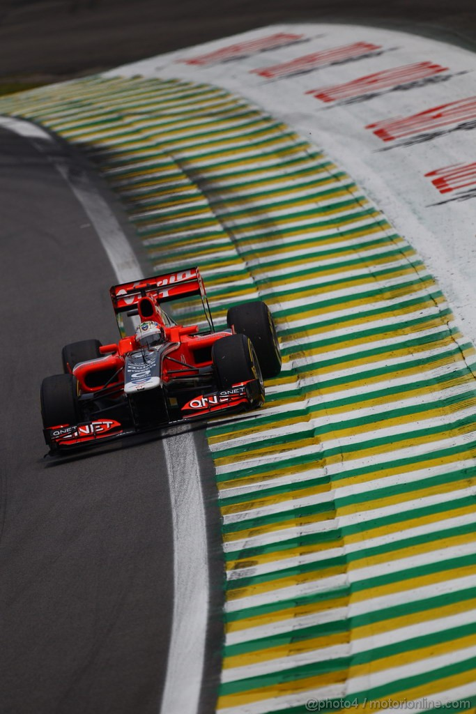 GP BRASILE, 26.11.2011- Qualifiche, Timo Glock (GER), Marussia Virgin Racing VR-02