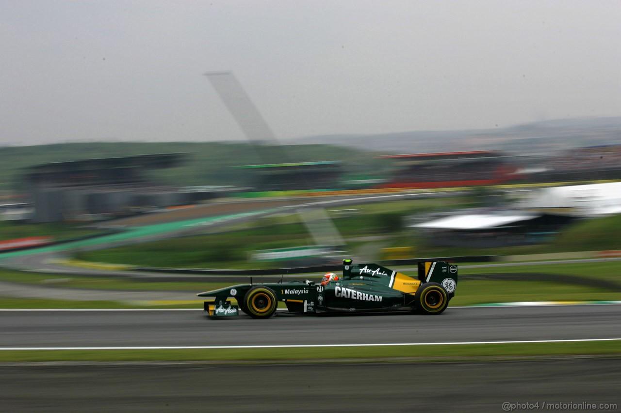 GP BRASILE, 26.11.2011- Qualifiche, Jarno Trulli (ITA), Team Lotus, TL11