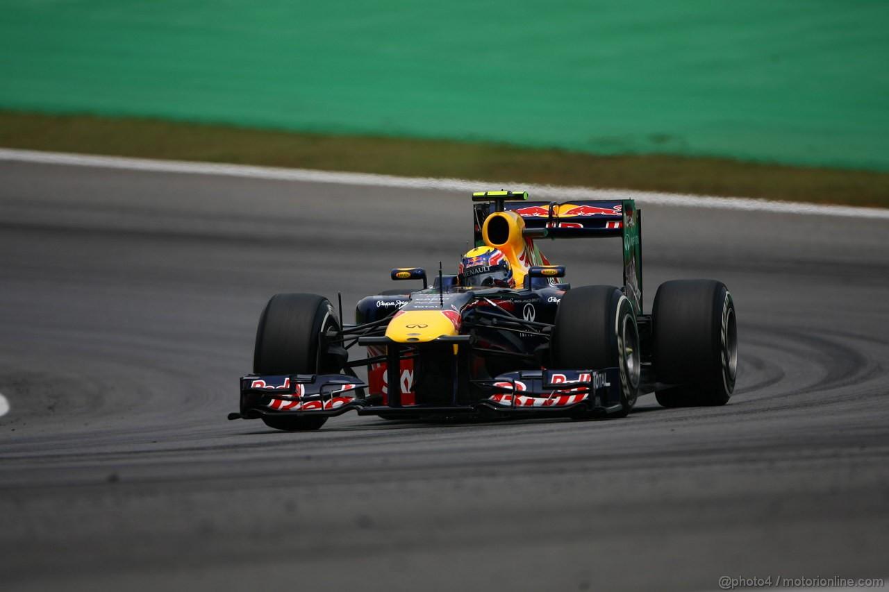 GP BRASILE, 26.11.2011- Qualifiche, Mark Webber (AUS), Red Bull Racing, RB7