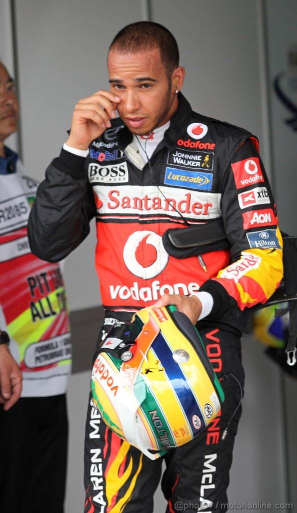 GP BRASILE, 26.11.2011- Qualifiche, Lewis Hamilton (GBR), McLaren  Mercedes, MP4-26