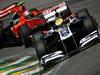 GP BRASILE, 26.11.2011- Prove Libere 3, Sabato, Jerome D'Ambrosio (BEL), Marussia Virgin Racing VR-02 e Rubens Barrichello (BRA), Williams FW33